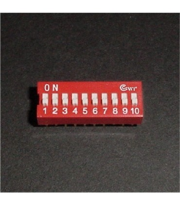 DIP Switch, 10 Position
