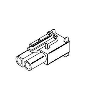 Power Connector, Receptacle 2 pos .093