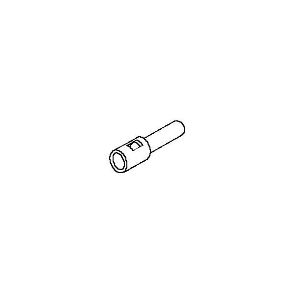 Connector, 1 pos Plug .062