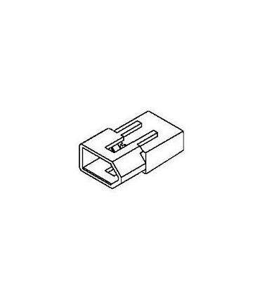 Connector, 2 pos Plug .062