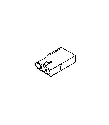 Connector, 3 pos Receptacle .062