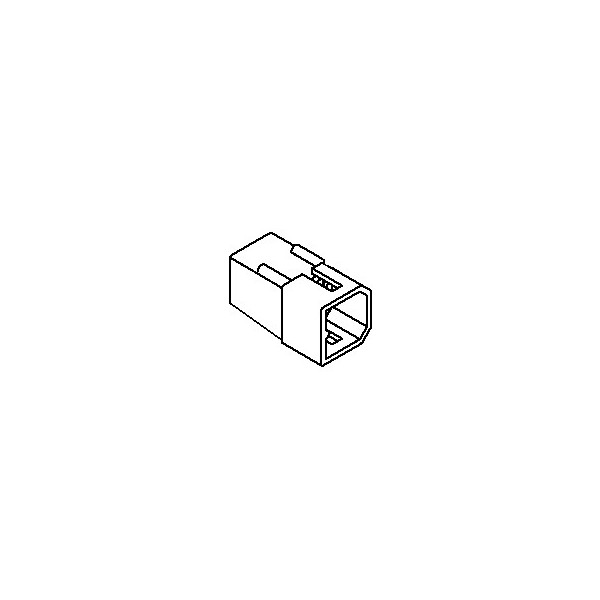 Connector, 4 pos Plug 2x2 .062