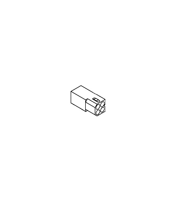 Connector, 4 pos Receptacle 2x2 .062