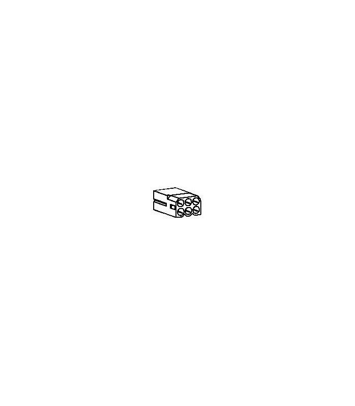 Connector, 6 pos Receptacle 2x3 .062