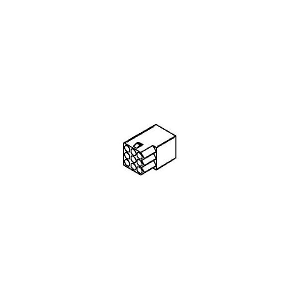 Connector, 9 pos Receptacle 3x3 .062