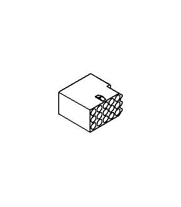 Connector, 15 pos Receptacle 3x5 .062