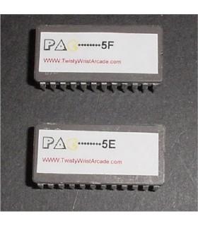 Pacman 5E & 5F rom set
