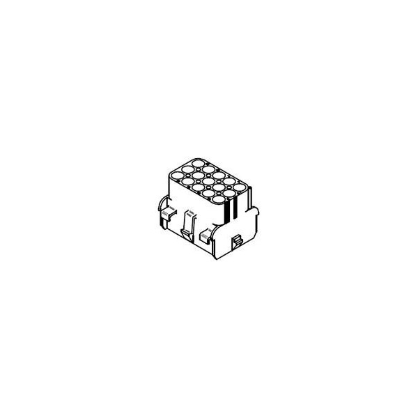 CONNECTOR  RECEPTACLE 15POS .084