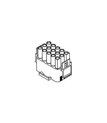 CONNECTOR PLUG 15POS .084