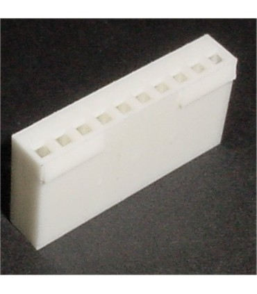 CONNECTOR HOUSING 10POS .100 W/RAMP